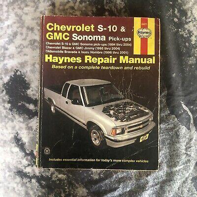 Advertisement Ebay Haynes 24071 Repair Manual Chevrolet S10 Gmc Sonoma 94 04 95 04 96 01 Shop Book Repair Manuals Chevrolet S 10 Repair