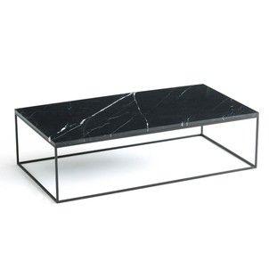 Table Basse Rect Metal Noir Et Marbre Mahaut Am Pm Meuble