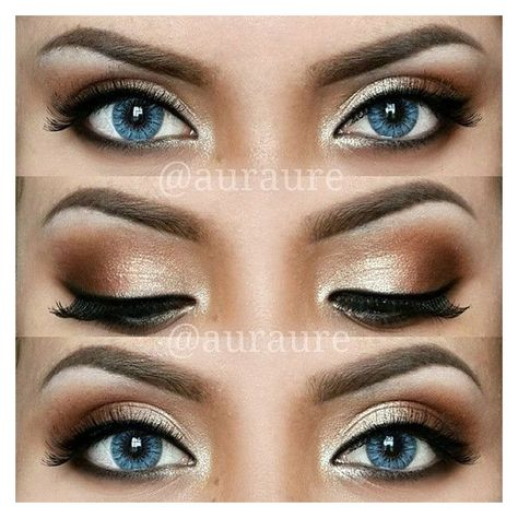 12 Easy Ideas For Prom Makeup For Blue Eyes Gurl ❤ liked on Polyvore featuring beauty products, makeup and eye makeup