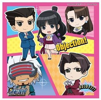 Ace Attorney Anime Season 2 Towel Handkerchief With Chibi Characters