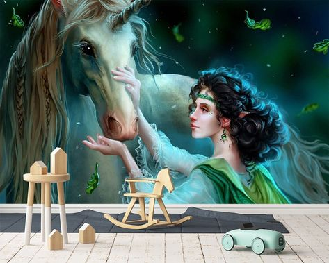 3D Wallpaper Stroke Unicorn 271 Wallpaper Mural Wall Mural Wall Murals Removable Wallpaper