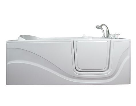 Lay Down Long Soaking Whirlpool Walk In Tub Drain Location Right See This Great Product Walk In Tubs Walk In Bathtub Walk In Bath