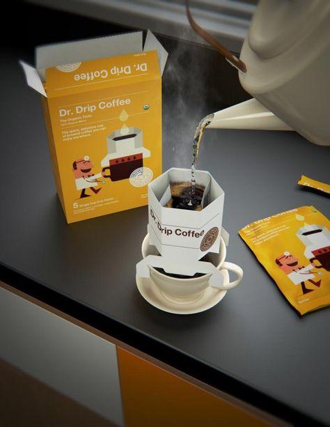 Dr. Drip Coffee / Lab10 #package #design #packaging #coffee
