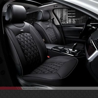 Rear Seat Car Back 2-3Seater Cover Waterproof Leather Bamboo Charcoal Protectors