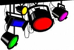 Spotlight old fashioned. Clipart free library lights