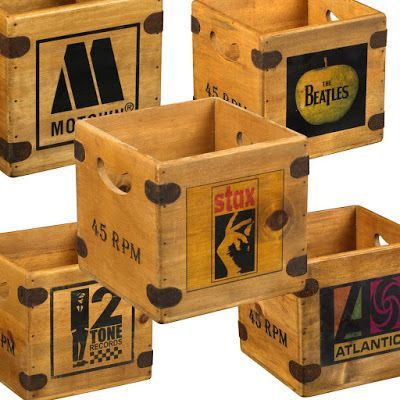 Order Your Custom Wooden Vinyl Record Storage Boxes By Apple Vintage Record Crate Vinyl Record Storage Diy Record Boxes