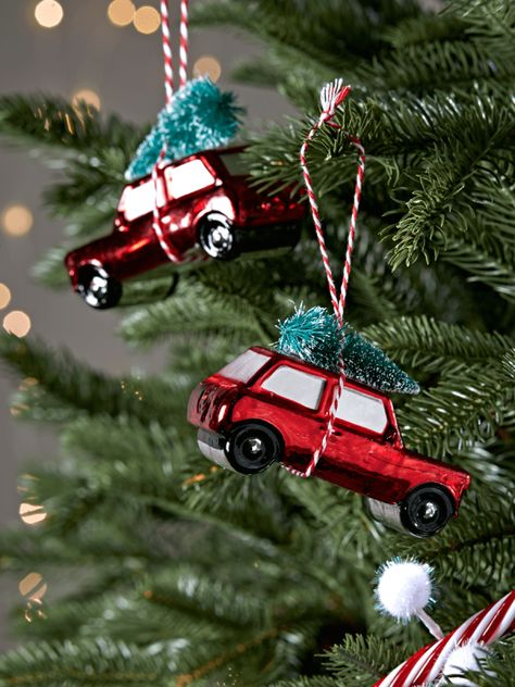 Two Vintage Car Decorations Christmas Tree Decorating Tips