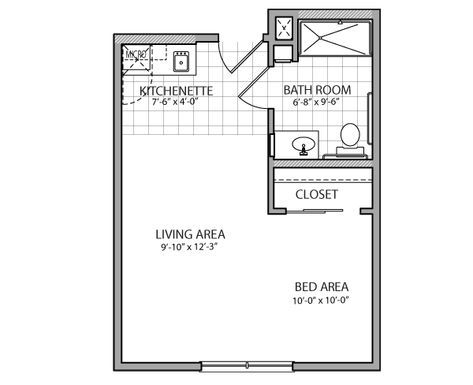 400 Square Feet Above Garage Studio Apartment With Kitchen And Shower Google Search Garage Studio Apartment Studio Floor Plans Apartment Floor Plans