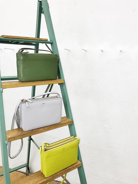 Celine Trio Bag, lamb leather, citrus colours.