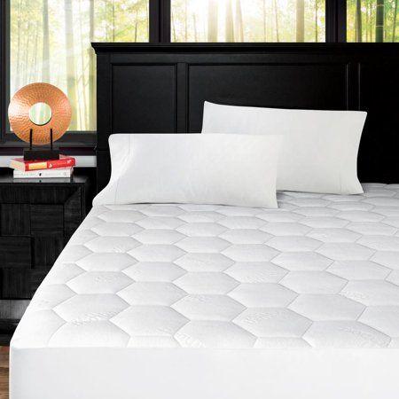Noble Linen S Honeycomb Patterned Mattress Pad Size Full White Bamboo Mattress Mattress Best Cooling Mattress