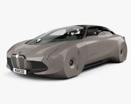 3d Model Of Bmw Vision Next 100 With Hq Interior 2016 3d Model Bmw