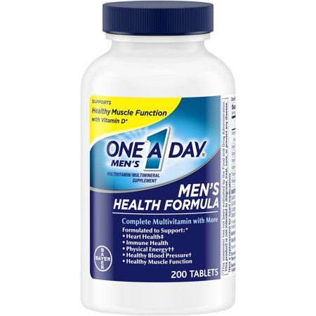 One A Day Men S Multivitamin Tablets Multivitamins For Men 200 Count Walmart Com Multivitamin Immune Health Multivitamin Supplements