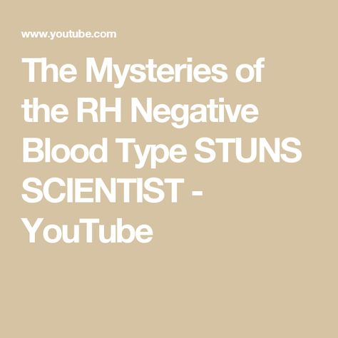 Rh Negative Blood Type Secrets: The Danger of Cats for Rh