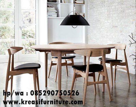 Set Kursi Cafe Minimalis Scandinavian Kreasi Furniture Jepara Interior Rumah Kursi Makan Ide Dekorasi Rumah