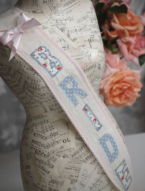 hen party 'bride' fabric sash by vintage twee | notonthehighstreet.com
