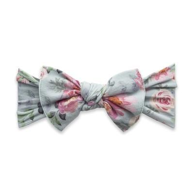 Printed Knot Sage Rose Baby Bling Bows Baby Bling Hair Bows For Sale