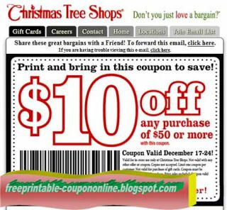 Best Awesome Christmas Tree Shop Coupons Printable 37581