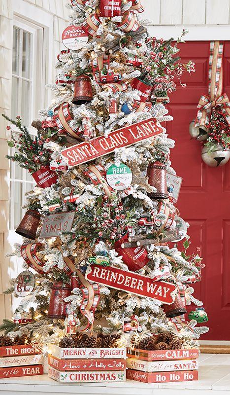 Camp Christmas Christmas Tree By Raz Imports Christmas Tree Inspiration Gingerbread Christmas Decor Rustic Christmas