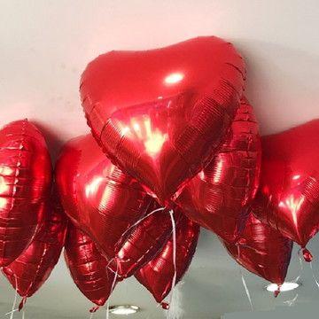 Baloes Coracao Vermelho Metalizado Em 2020 Com Imagens