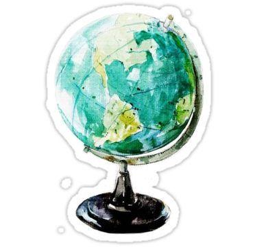 watercolor globe world Sticker