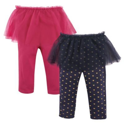 Toddler Kids Baby Girl Polka Dot Culottes Leggings With Tutu Skirt Pants Clothes