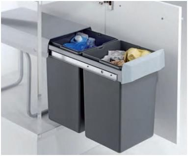 Naturlich Mulleimer 30 Liter Abfalleimer Abfallsystem Kuche Einbau Abfallsammler