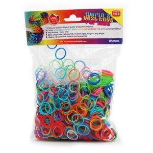 1200 Pc Rainbow Loom Wonder Loom Rubber Bands Refills Assorted Multicolor Colors