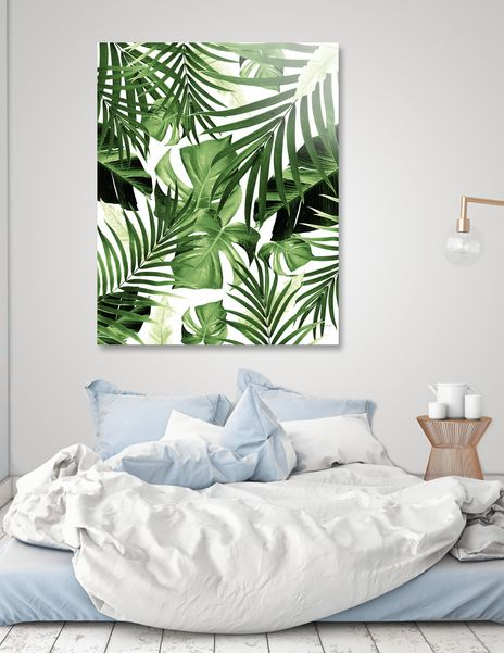 Tropical Jungle Leaves Pattern 12 Tropical Decor Art Acrylic Glass Print By Anita S Bella S Art Numbered Edition From 85 Curioos In 2020 Watercolor Flower Prints Terracotta Wall Art Leaf Artwork