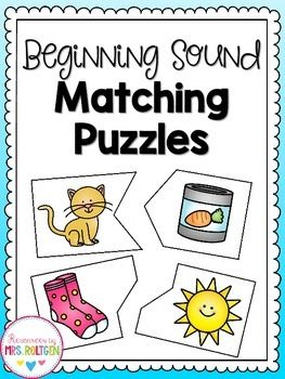 This is a set of 26 puzzles that help students identify pictures that begin with the same sound. | by Mrs Roltgen