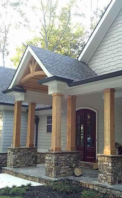 Plan 12261jl Luxurious Lodge Like Living Architectural Design House Plans Porch Design House Exterior