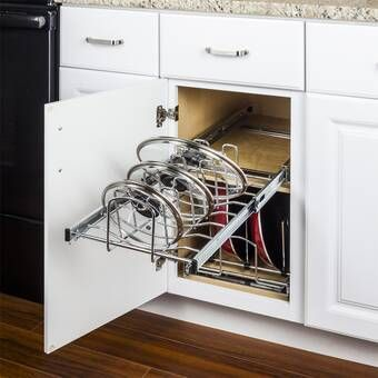 Umbra Adjustable Drawer Organizer Reviews Wayfair Lid Organizer Kitchen Credenza Base Cabinets