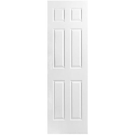 Masonite 22 Inch X 80 Inch Primed 6 Panel Textured Interior Door Slab The Home Depot Canada Doors Interior Prehung Doors Paneling