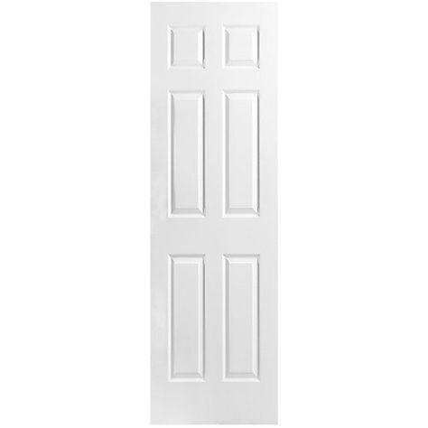 Masonite 22 Inch X 80 Inch Primed 6 Panel Textured Interior Door Slab The Home Depot Canada Doors Interior Prehung Doors Paneling