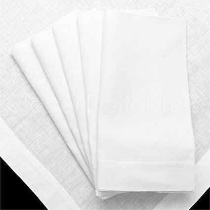 12 Pack Cleverdelights White Linen Dinner Napkins 20 X 20 100 Pure Linen Cloth Dinner Napkins Revi Linen Dinner Napkins Cloth Dinner Napkins Napkins