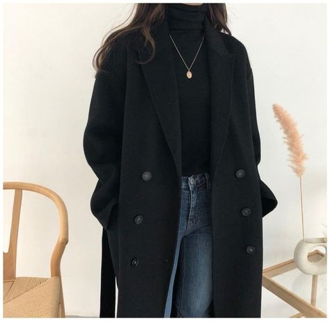 korean winter outfits coats casual