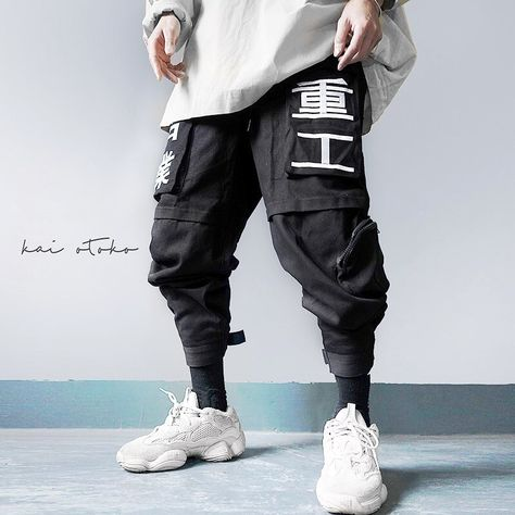 "KAI OTOKO on Instagram: ""• Multi-Typo Tighten Hem Cargo Trousers Material : cotton Size : M , L , XL , 2XL Price : hkd$ 590,usd$ 78 - - - -  Available to order…"""