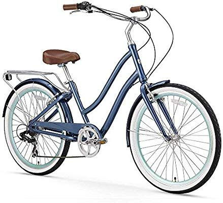 Amazon Com Sixthreezero Evryjourney Women S 3 Speed Step Through Hybrid Cruiser Bicycle Cream W Brown Seat Grips 26 Hybrid Bike Comfort Bike Hybrid Bicycle