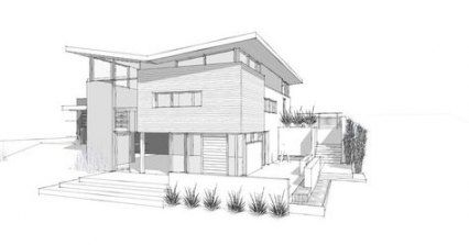 Simple Exterior Design Drawing