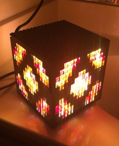 Lego Minecraft Glowstone Lamp By Onceuponabrick On Etsy Lego