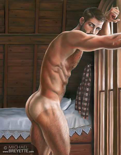 Nude bisexual male artwork
