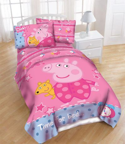 Peppa Pig Time For Bed Reversible Comforter Multi Twin Double