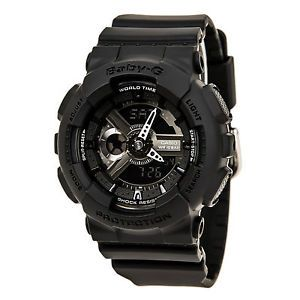 Casio BA110BC-1A Womens Baby-G Ana-Digi Black Dial Black Resin Strap Alarm Watch  $77.93  $120.00  (10 Available) End Date: Aug 102016 07:59 AM GMT-07:00