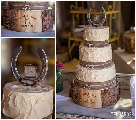 Country style wedding cake topper and wooden block stand Western Wedding Cakes, Western Cakes, Country Wedding Cakes, Country Style Wedding, Themed Wedding Cakes, Western Weddings, Country Themed Weddings, Western Cake Toppers, Barn Weddings