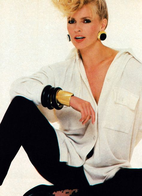 Cheryl Ladd photographed by Paul Amato for Harper's Bazaar, September Clothing by Donna Karan.