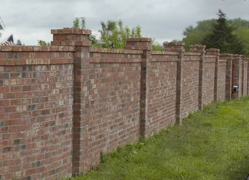 Charming I Had A Brick Fence Until The May 31 Oklahoma Winds Blew It Down.... | I  Love To Read And Travel    This Is The Way To Go.. | Pinterest | Fences,  Bricks And ...