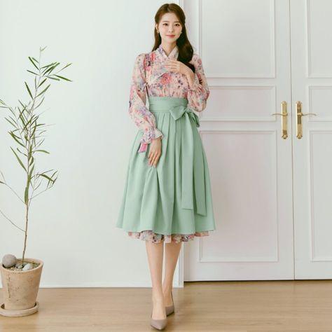 Beautiful Modern Hanbok Dress For Women   Hanbok Skirt   Midi Dress   Korean Style (CL00042)