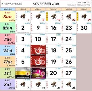 Kalendar 2020 Senarai Cuti Umum Dan Cuti Sekolah Malaysia