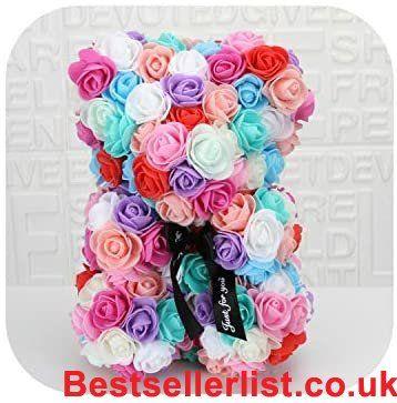 Forever Long Rose Bear Kit Rose Bear 25cm Red Rose Teddy Bear Rose Flower Artificial Decoratio In 2020 Valentines Day Decorations Kit Rose Valentine Gifts