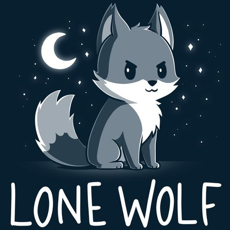 I'm my own pack. 🐺 Get the navy Lone Wolf t-shirt only at TeeTurtle! Exclusive graphic designs on super soft 100% cotton tees.