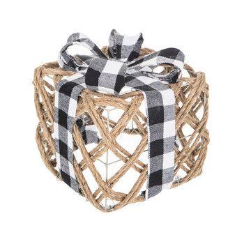 9 Medium 7 Small Hobby Lobby Buffalo Check Jute Gift Box Decor